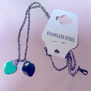 💙 tiffany blue silver heart necklace 💙